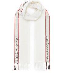 'selvedge' contrast stripe scarf