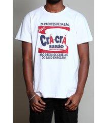 camiseta sabão crá-crá