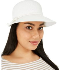 nine west classic braid framer hat