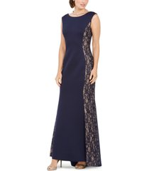 jessica howard sequined-lace scuba mermaid gown