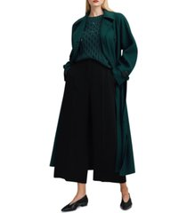 weekend max mara ennio embellished cable-knit sweater