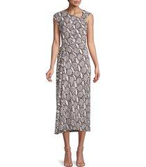 a.l.c. women's snakeskin-print sleeveless dress - nude - size 0