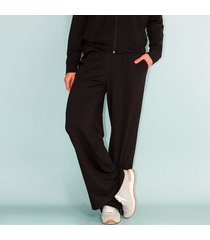pantalón tipo comfy, tiro alto, fluido color-negro-talla-14