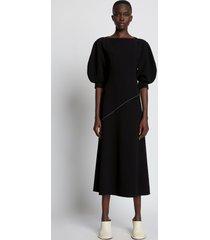 proenza schouler crepe puff sleeve dress black 10