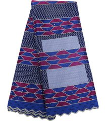 royal blue african tulle lace french nigeria mesh fabric w/beads 4 formal dress