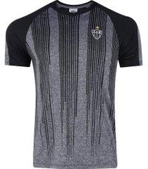 camiseta do atlético-mg motion - masculina - cinza escuro/preto