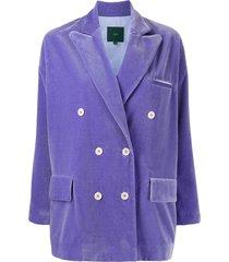 jejia slouchy double breasted jacket - purple