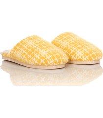 slippers sherpa retro thm mujer amarillo