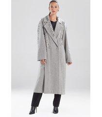 natori felted wool beaded coat, women's, size s