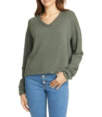 women's rag & bone surplus pullover, size small - green