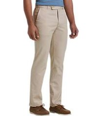 joseph abboud light tan cotton canvas pants