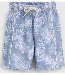 bermuda green infantil hawai azul - azul - menino - algodã£o - dafiti