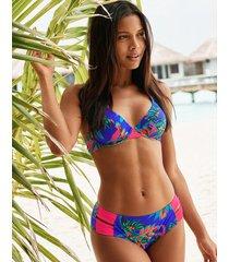fiji palm underwire non pad halter bikini top d-gg cup