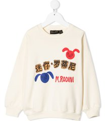 mini rodini rabbit mandarin logo sweatshirt