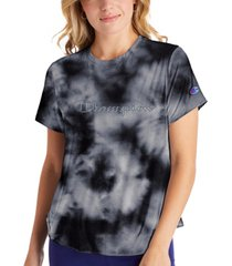 champion women's double dry tie-dyed t-shirt