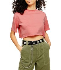 women's topshop crop tee, size 10 us (fits like 10-12) - pink