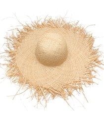 women summer sun hat with a large brim raffia straw hat fringe big beach rs