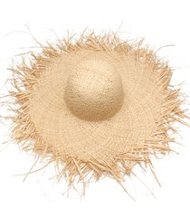 women summer sun hat with a large brim raffia straw hat fringe big beach rs