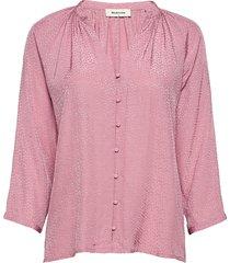 ellie top blus långärmad rosa modström
