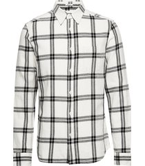 ls 1 pkt shirt off white overhemd casual wit wrangler