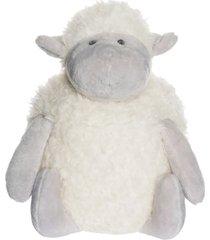 gosedjur lamm fluffie vit/grå