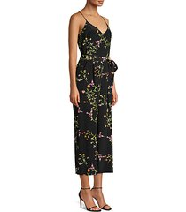 jaelyn silk floral jumpsuit