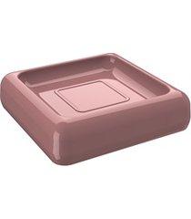 saboneteira cube 2,5x10cm rosa malva