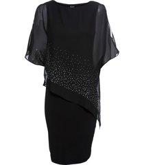 abito di jersey con paillettes (nero) - bodyflirt