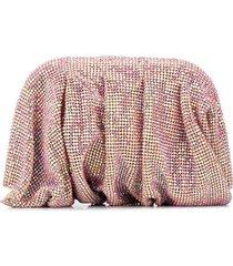 benedetta bruzziches hinged crystal clutch - pink