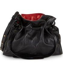 mansur gavriel women's mini protea leather drawstring bag - black