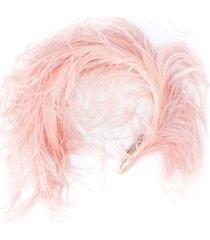 emilio pucci fluffy headband - pink
