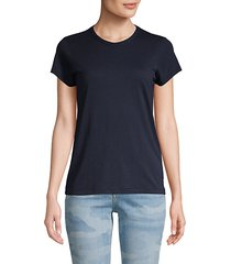 short-sleeve cotton-blend tee