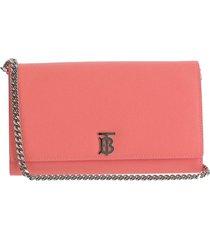 burberry designer handbags, pink leather monogram on-chain wallet clutch