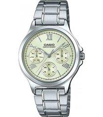 ltp-v300d-9a1  reloj casio multicalendario tablero marfil dama