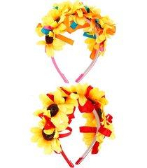 tiara de girassol le cores diversas - item sortido