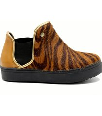 botineta animal print leblu