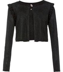 bolero in maglia glitterata (nero) - bodyflirt boutique