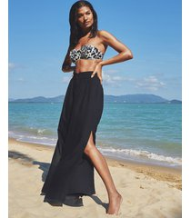 malibu wide leg side split beach pant