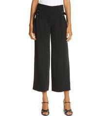 women's cinq a sept diana buckle detail crop trousers