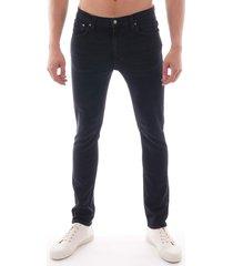 nudie lean dean denim jean - black 113210-blk