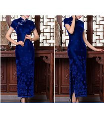 2017 new chinese women's long dress evening dress cheongsam qipao size s--x