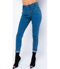 akira roxane straight jeans with front buttons