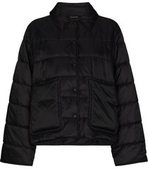 givenchy padded press-stud jacket - black