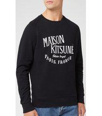 maison kitsuné men's sweatshirt palais royal - black - xxl - black