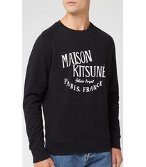 maison kitsuné men's palais royal sweatshirt - black - xxl - black