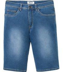 mjuka jeansbermudas i stretch, normal passform