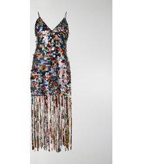 marco de vincenzo sequin embellished dress