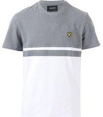 mens panel stripe t-shirt