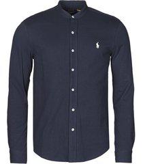 overhemd lange mouw polo ralph lauren chemise ajustee col mao en polo featherweight logo pony player
