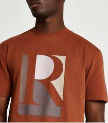 river island mens rust regular fit graphic t-shirt
